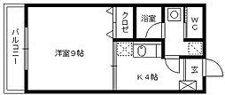 福岡県久留米市花畑1の賃貸マンションの間取り