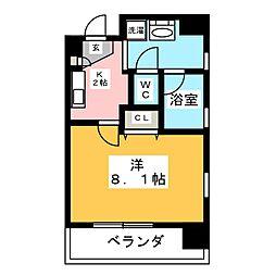 共同ハイツ西大須[6階]の間取り