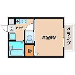 静岡県静岡市清水区春日1丁目の賃貸アパートの間取り