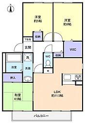 フラワーハウス[2階]の間取り