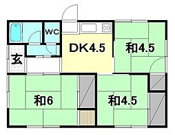 [一戸建] 愛媛県松山市居相2丁目 の賃貸【愛媛県 / 松山市】の間取り