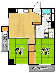シャンボール桜坂[4階]の間取り