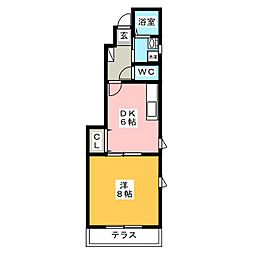 SharonB棟[1階]の間取り