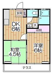 タカラシティ102[203号室]の間取り