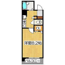 プレサンス京都駅前II[8階]の間取り