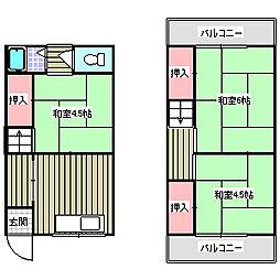 [テラスハウス] 大阪府大東市野崎4丁目 の賃貸【/】の間取り