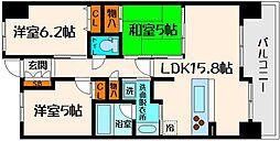 レジディア都島I[10階]の間取り
