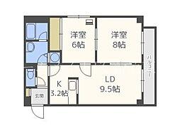 N34マンション[3階]の間取り