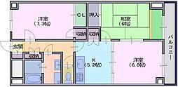 グラン・シャリオ二階堂[702号室]の間取り
