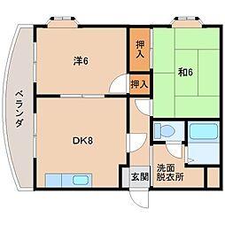 大都マンション[2階]の間取り