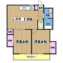 木下マンション[3階]の間取り