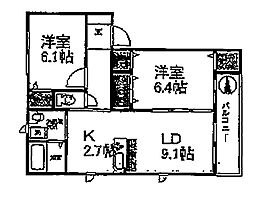 シャーメゾン永田C棟[1階]の間取り