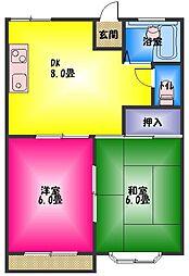 メゾン栗原[2階]の間取り