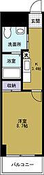 ZERO千代崎[4階]の間取り