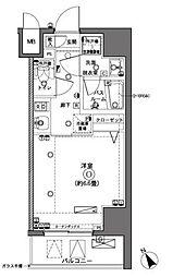 ZOOM横浜 6階1Kの間取り