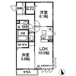 (仮)D-room西大沼[101号室]の間取り