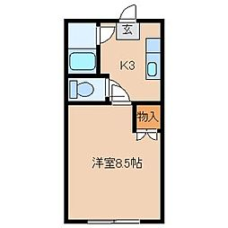 アーマライトシティ[2階]の間取り