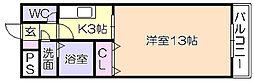 プレアール東合川[201号室]の間取り