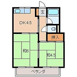 グランドハイツ橋本[1階]の間取り