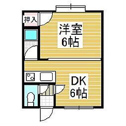 ベイサイドハウスB[3階]の間取り