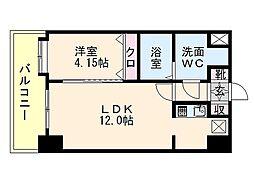 ローズモントフレア博多駅東[11階]の間取り