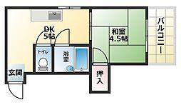 阿倍野三明マンション[5階]の間取り