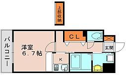 福岡県福岡市博多区竹下2の賃貸マンションの間取り