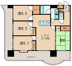 ライオンズマンション六ッ門第2[902号室]の間取り