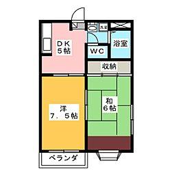 プランドール高崎B[1階]の間取り