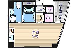 大阪府大阪市天王寺区細工谷1丁目の賃貸マンションの間取り