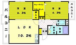 ケヤキハウス[2階]の間取り