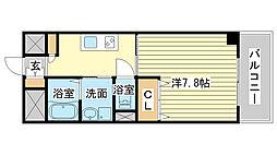 兵庫県姫路市土山3丁目の賃貸マンションの間取り