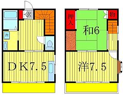 [テラスハウス] 千葉県松戸市小金原3丁目 の賃貸【千葉県 / 松戸市】の間取り