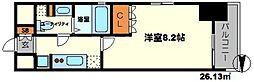 クレヴィアリグゼ江坂[6階]の間取り