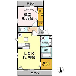 studio 115[105号室]の間取り