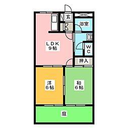 メゾンドボヌール2[1階]の間取り