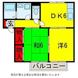 コーポラステンダー[1階]の間取り