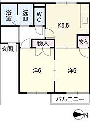 フレグランスFUJI[2階]の間取り