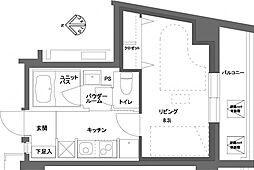 ミュージション野方 brio[4階]の間取り