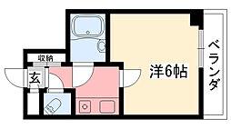 ホワイエ甲子園[211号室]の間取り
