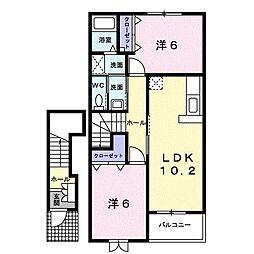 メゾン葵西III[2階]の間取り