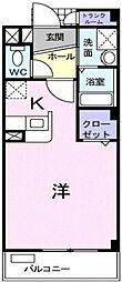 埼玉県越谷市弥十郎の賃貸マンションの間取り