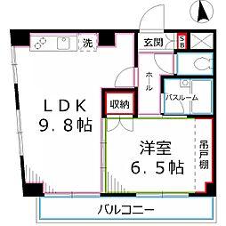 トゥレル1[3階]の間取り