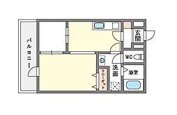 家具・家電付きアイセレブ祇園[11階]の間取り