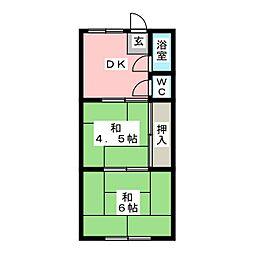 健幸荘[2階]の間取り