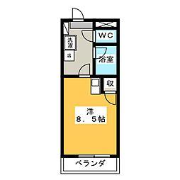 カームダウン喜多山[3階]の間取り