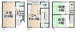 [テラスハウス] 大阪府大阪市西区境川1丁目 の賃貸【大阪府 / 大阪市西区】の間取り