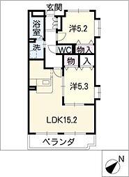 グランドマンションII[1階]の間取り