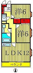 ラフィーヌジュネスII[2階]の間取り