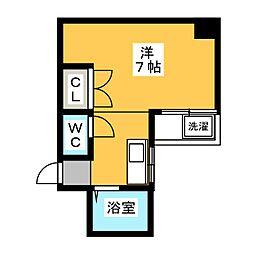 LS杁中[3階]の間取り